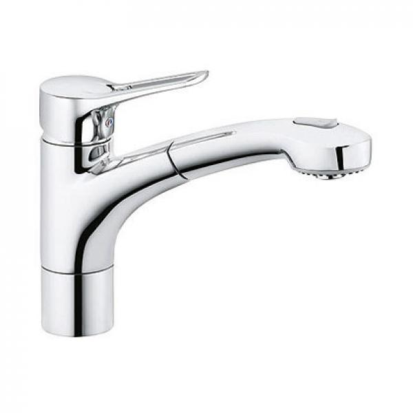 399410562 KLUDI MX Кухонный однорычажный смеситель DN 8, поворотный выдвижной излив-душ, с переключением душ/нормальная струя