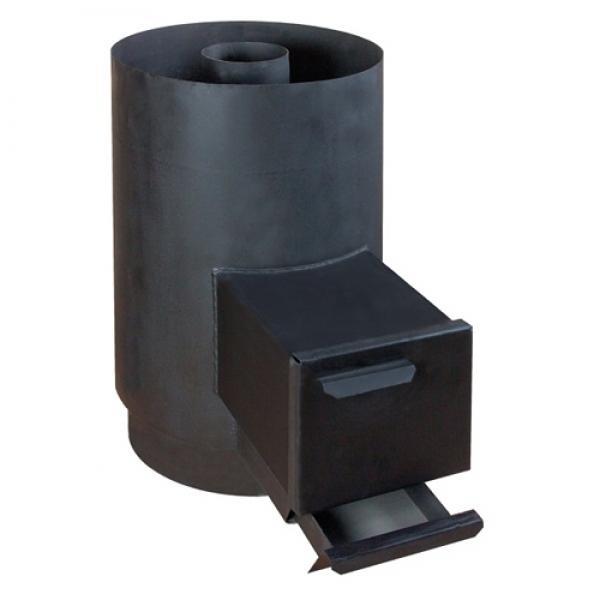 ПК-18КН Банная печь малая с квадратным кожухом из нержавейки и топкой в сауне/бане