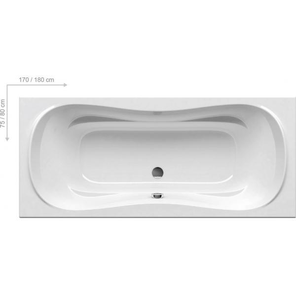 Ванна акриловая Ravak CAMPANULA II 180x80