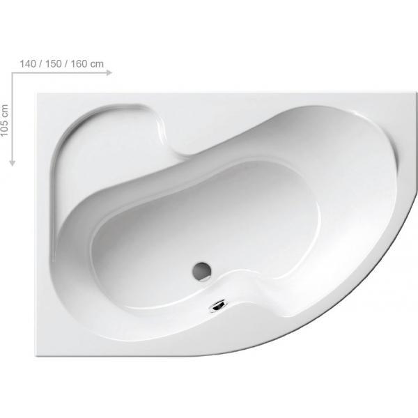 Ванна акриловая Ravak Rosa L 140х105