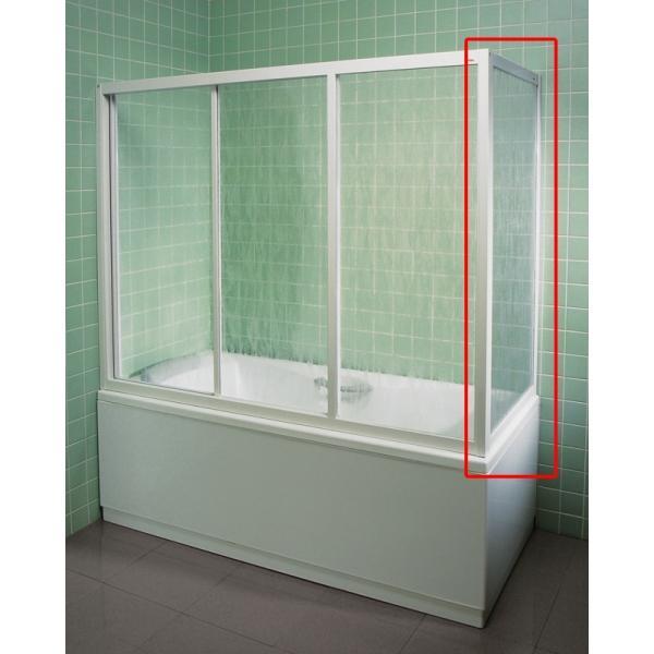 Неподвижная стенка для ванны APSV-75 белая TRANSPARENT