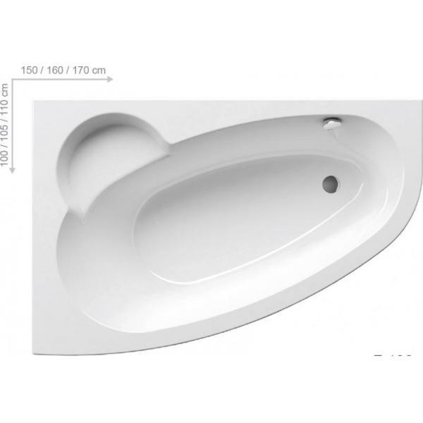 Ванна акриловая Ravak ASYMMETRIC 160x105 L