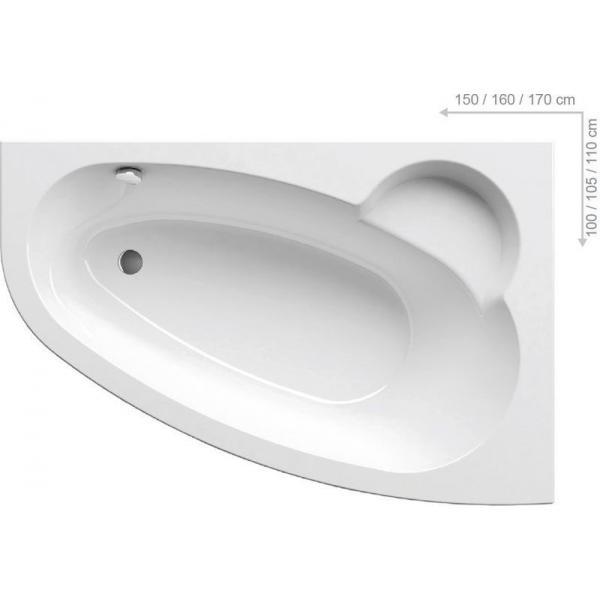 Ванна акриловая Ravak ASYMMETRIC 170x110 R