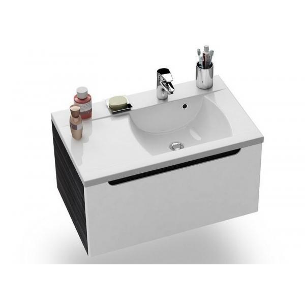 Тумба SD-800 Classic L эспрессо/белая