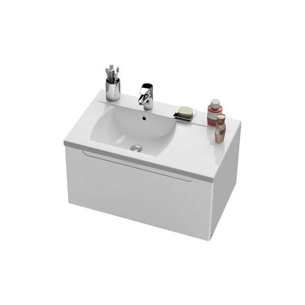 Тумба SD-800 Classic R белая/белая