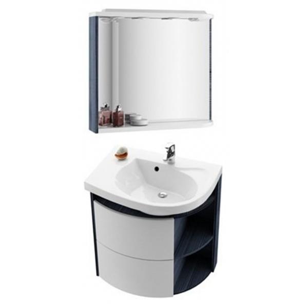 Зеркало M 780 L белое/белое