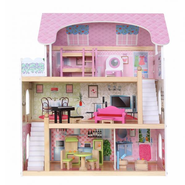 Кукольный домик Fairytale Residence из дерева, Польша