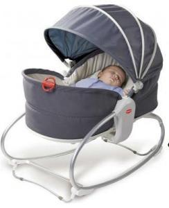 Фото       Для малышей, Шезлонги, кресла, качельки  Кресло-кроватка, качалка, люлька, баунсер Мамина любовь с капюшоном
