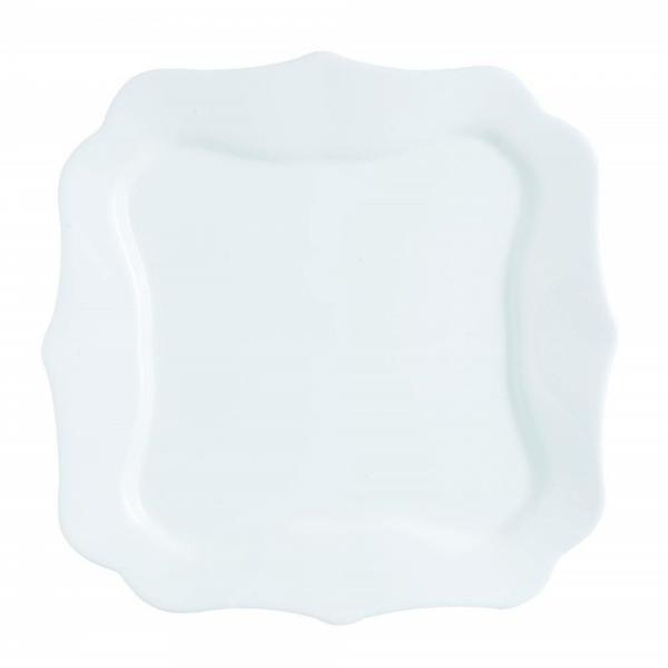 Authentic White.Тарелка обеденная квадратная 26см Luminarc