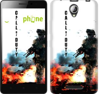 "Чехол на ZTE L110 Call of Duty. В пламени ""616u-435"""