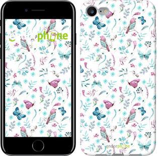 "Чехол на iPhone 7 Бабочки и птички ""3371c-336"""