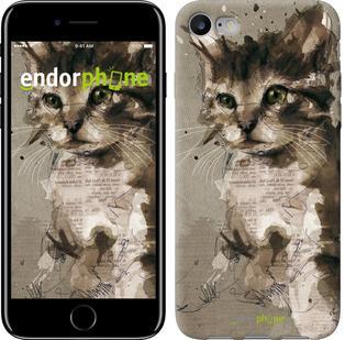 """Чехол на iPhone 7 Котёнок из пятен и линий """"119c-336"""""""