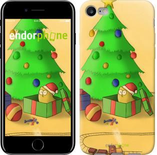 "Чехол на iPhone 7 Новогодний кот v3 ""1417c-336"""