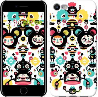 "Чехол на iPhone 7 Абстрактные лица ""3498c-336"""