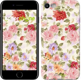 """Чехол на iPhone 7 Цветочные обои """"820c-336"""""""