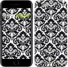 "Чехол на iPhone 7 Черно-белый узор барокко ""1704c-336"""
