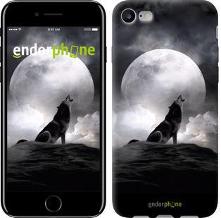 "Чехол на iPhone 7 Воющий волк ""934c-336"""