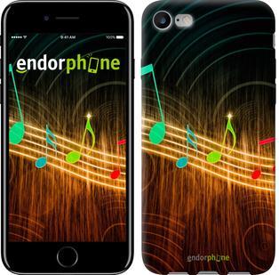 """Чехол на iPhone 7 Разноцветные ноты """"190c-336"""""""