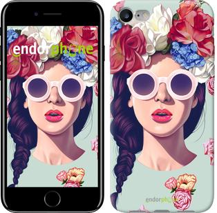 """Чехол на iPhone 7 Девушка с цветами """"2812c-336"""""""