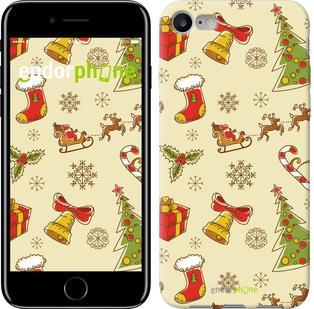 """Чехол на iPhone 7 Новогодняя текстура v2 """"1483c-336"""""""