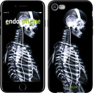 """Чехол на iPhone 7 Скелет-меломан """"941c-336"""""""