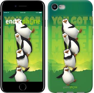 "Чехол на iPhone 7 Мадагаскар. Пингвины ""772c-336"""