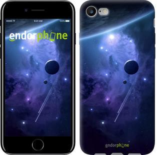"""Чехол на iPhone 7 Планеты в синем космосе """"171c-336"""""""