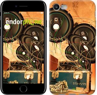 """Чехол на iPhone 7 Динамики на оранжевом фоне """"185c-336"""""""