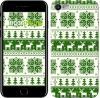 """Чехол на iPhone 7 новый год и зелёные олени """"1488c-336"""""""