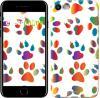 Чехол на iPhone 7 разноцветные лапки