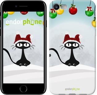 "Чехол на iPhone 7 Новогодний кот ""211c-336"""
