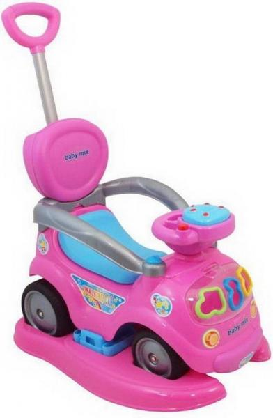 Каталка Baby Mix, машина-толкалка, толокар розовый