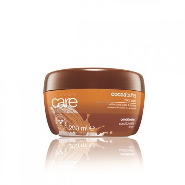 Восстанавливающий увлажняющий крем-суфле для тела с маслом какао и витамином, 200 мл