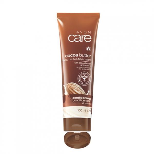 Восстанавливающий увлажняющий крем для рук, ногтей и кутикулы с маслом какао и витамином Е, 100 мл
