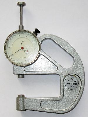 Толщиномер индикаторный ТР-25-100