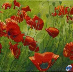 Фото Салфетки для декупажа, Цветы Салфетка Маковое поле