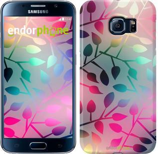 "Чехол на Samsung Galaxy S6 G920 Листья ""2235c-80"""