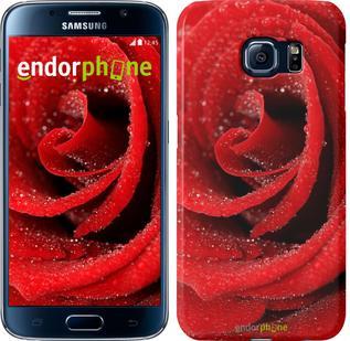 "Чехол на Samsung Galaxy S6 G920 Красная роза ""529c-80"""