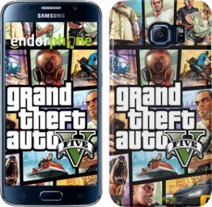 Фото Чехлы для Samsung Galaxy S6 G920 Чехол на Samsung Galaxy S6 G920 GTA 5. Collage