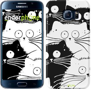 "Чехол на Samsung Galaxy S6 G920 Коты v2 ""3565c-80"""