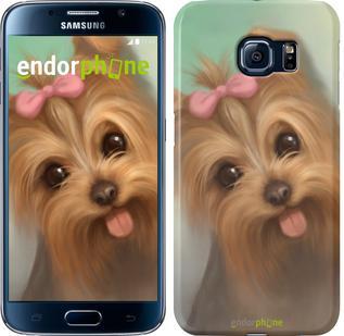 "Чехол на Samsung Galaxy S6 G920 Нарисованный йоркширский терьер ""928c-80"""
