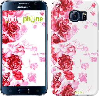 """Чехол на Samsung Galaxy S6 G920 Нарисованные розы """"724c-80"""""""