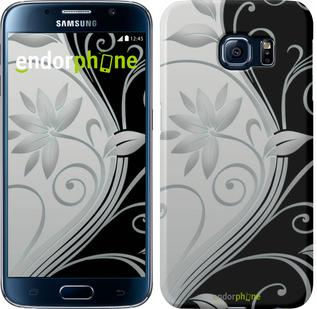 "Чехол на Samsung Galaxy S6 G920 Цветы на чёрно-белом фоне ""840c-80"""