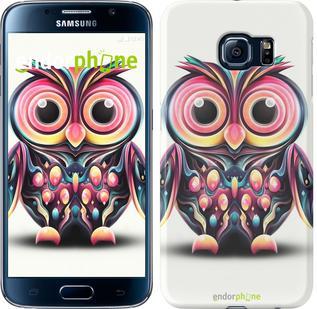 "Чехол на Samsung Galaxy S6 G920 Сова v3 ""2925c-80"""