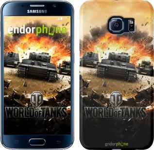 "Чехол на Samsung Galaxy S6 G920 World of tanks v1 ""834c-80"""