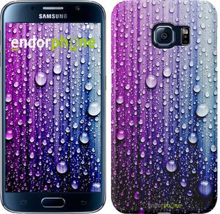 "Чехол на Samsung Galaxy S6 G920 Капли воды ""3351c-80"""