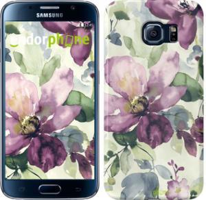 Фото Чехлы для Samsung Galaxy S6 G920 Чехол на Samsung Galaxy S6 G920 Цветы акварелью