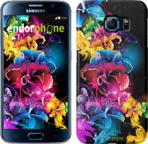 Фото Чехлы для Samsung Galaxy S6 G920 Чехол на Samsung Galaxy S6 G920 Абстрактные цветы