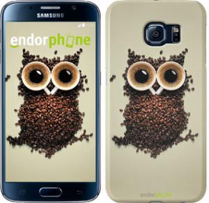 Фото Чехлы для Samsung Galaxy S6 G920 Чехол на Samsung Galaxy S6 G920 Сова из кофе