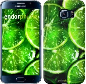 Фото Чехлы для Samsung Galaxy S6 G920 Чехол на Samsung Galaxy S6 G920 Зелёные дольки лимона